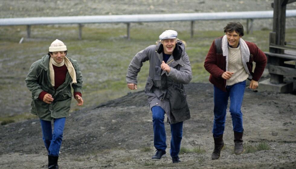 "ORIONS BELTE: Helge Jordal (t.v), Sverre Anker Ousdal og Hans Ola Sørli var med i den norske filmen Orions belte den gong film var ""grei for å vere norsk. ""FOTO: NTB scanpix"