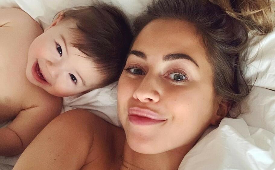 BLE MAMMA: Den svenske influenceren Kenza Zouiten Subosic ble mor for første gang i juni i fjor. Siden har hun delt både de gode og dårlige dagene på sosiale medier. FOTO: Instagram