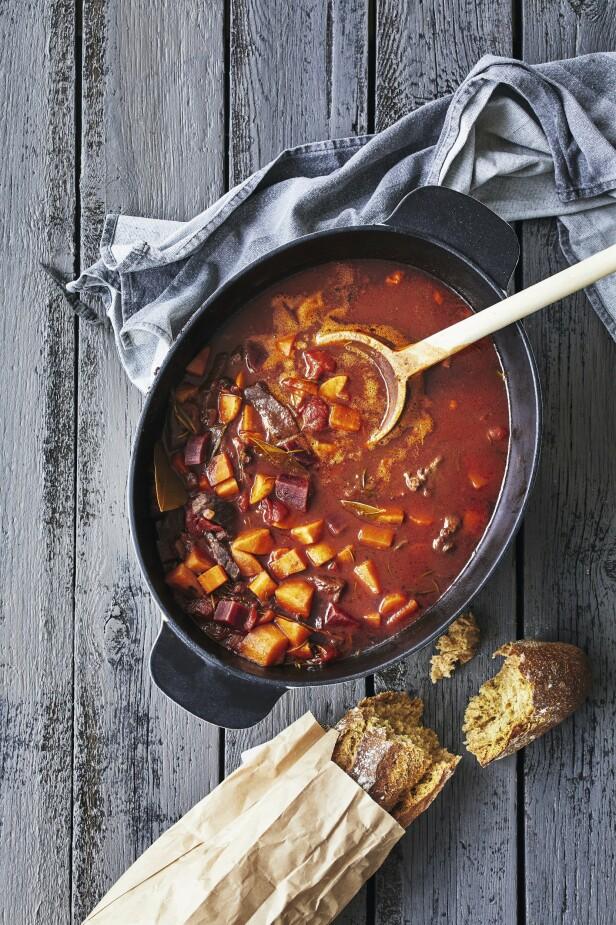 Dette er en suveren suppe å servere på kalde vinterdager. FOTO: Winnie Methmann