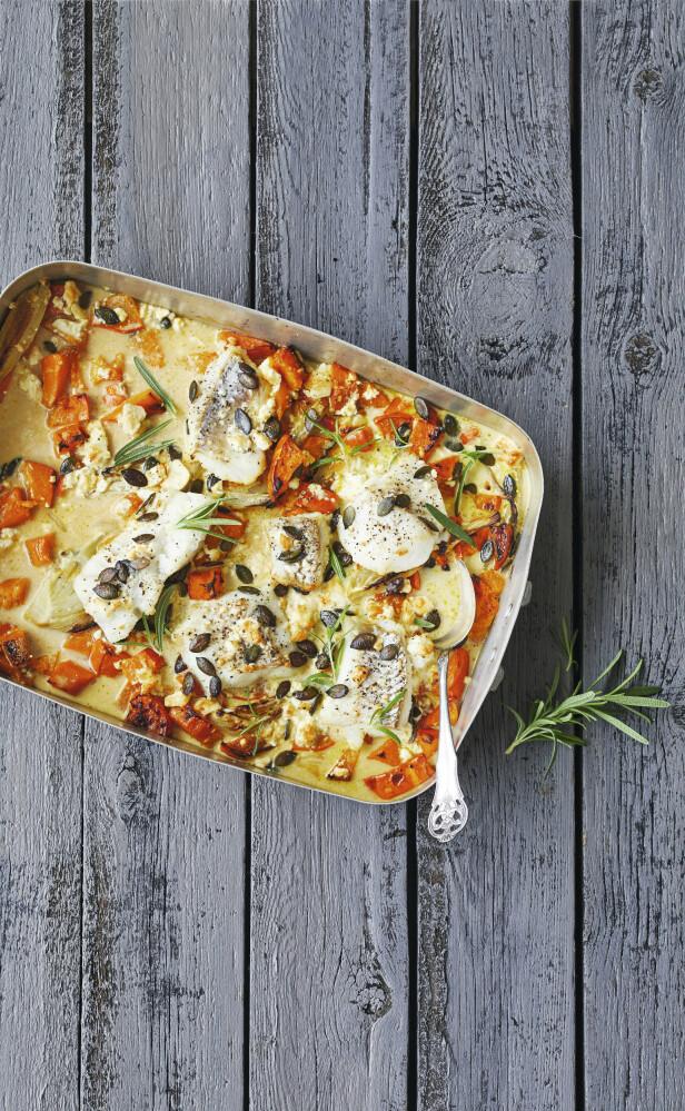 Bland smakfulle grønnsaker, en god saus og saftig, dampet torsk eller skrei på et fat, og du får et festmåltid på en vanlig hverdag. Tips! Nå er det sesong for skrei, så sett den flotte fisken på menyen! FOTO: Winnie Methmann