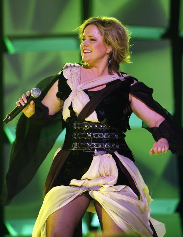 VIND I HÅRET: Anita Hegerland trøkket til i kjent stil, da hun deltok i Grand Prix i 2009. FOTO: NTBScanpix