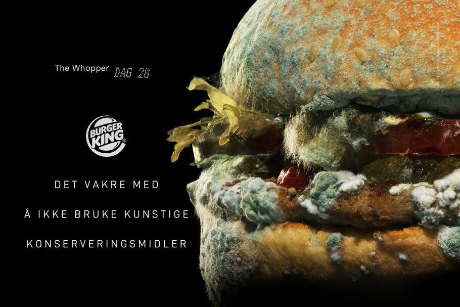 <strong>MUGGEN:</strong> En ny kampanje fra burgerkjeden Burger King vekker reaksjoner. FOTO: Burger King Norge