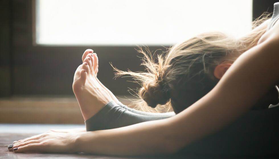YOGA KAN HJELPE: Mange av oss vil oppleve en eller annen form for angst eller stemningsforstyrrelse i løpet av livet, og yoga kan da brukes som en form for selvhjelpsterapi.
