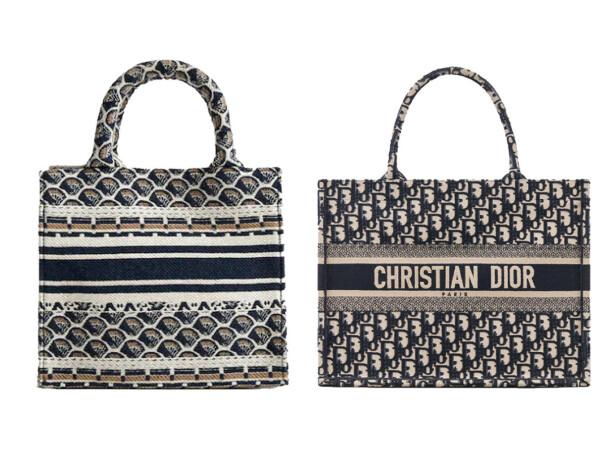 Vesken til høyre er fra - ingen overraskelse - Christian Dior og koster cirka kroner 24 679. Vesken til venstre er fra Mango og koster kroner 359.