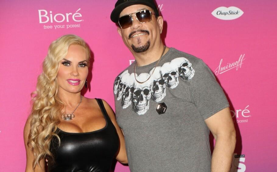 PROVOSERER: Coco Austin, som er gift med musikeren Ice T, er ikke redd for å dele dristige bilder av seg selv i sosiale medier. Et i utgangspunktet langt mer uskyldig bilde har imidlertid satt sinnene i kok hos enkelte. FOTO: NTB Scanpix