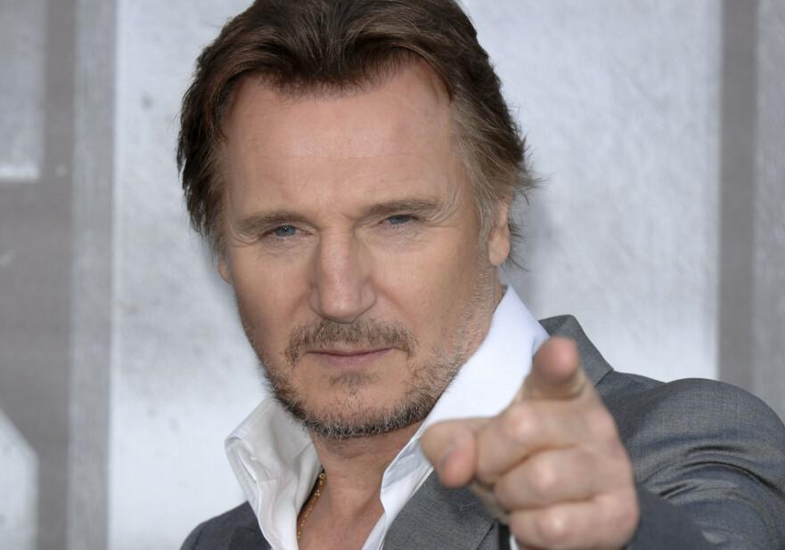 MEN RUMPA MI FÅR DU ALDRI: Irske Liam Neeson er klar i talen når det kommer til sine edlere deler. Her i forbindelse med premieren på Battleship i Los Angeles i 2012. FOTO: NTB Scanpix