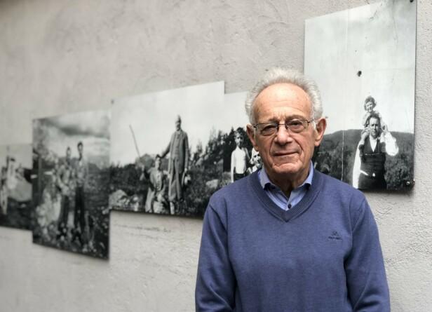FLYKTET: Leif Grusd er i dag en aktiv og sosial mann på straks 90 år, som fungerer som tidsvitne på Jødisk Museum i Oslo. FOTO: Malini Gaare Bjørnstad