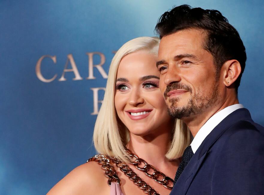 VENTER SITT FØRSTE BARN SAMMEN: Katy Perry og Orlando Bloom blir foreldre! FOTO: NTB Scanpix