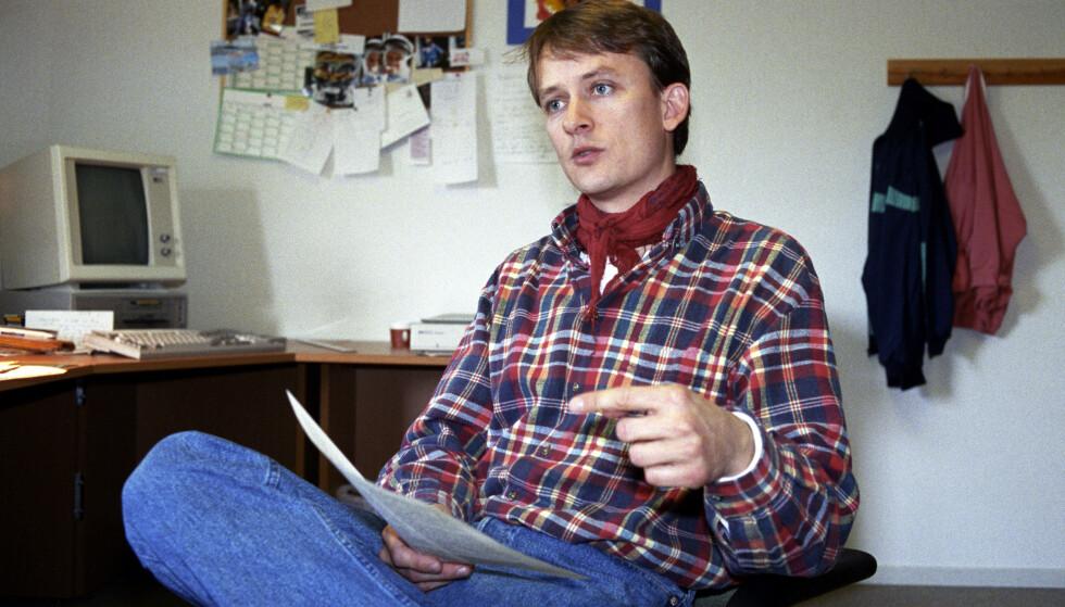 ENGASJERTE SEG: Jan Harsem fotografert i 1992, to år etter hendelsen. Han er leder av Støttegruppen etter Scandinavian Star-katastrofen. FOTO: Jon Eeg / NTB scanpix