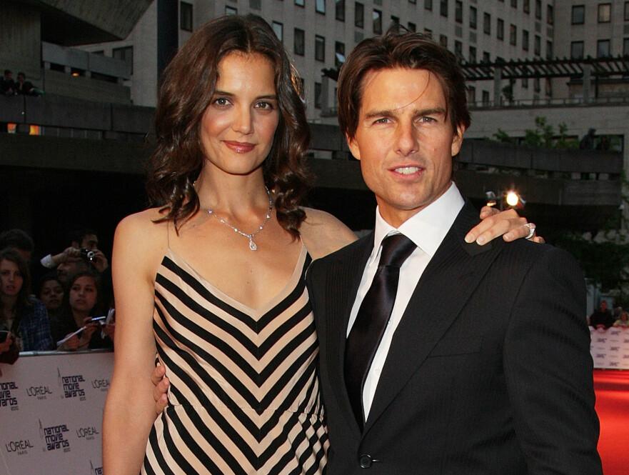 <strong>KATIE HOLMES:</strong> Skuespillerne Katie Holmes og Tom Cruise fotografert på rød løper under en filmtilstelning i mai 2010. To år senere var skilsmissen et faktum. FOTO: NTB scanpix