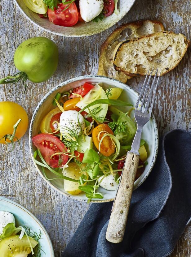 Dette er en fin og fargerik frokostrett som også gjør seg godt som tilbehør. FOTO: Inge Skovdal