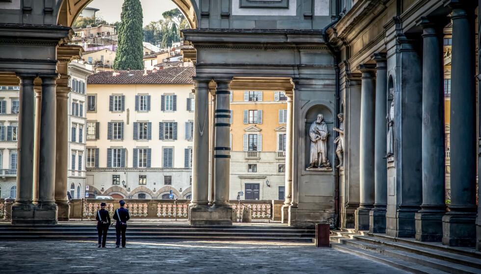 SÅ ØYET BLIR STORT OG VÅTT: Det skulle være nok å hvile øyet på i Uffizzi-galleriet i Firenze. FOTO: NTB Scanpix