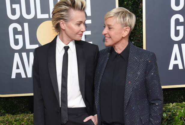 STJERNEPAR: Portia de Rossi og Ellen DeGeneres har vært et par i en årrekke. Her under Golden Globe Awards i 2020. FOTO: NTB Scanpix