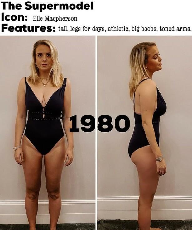 SUPERMODELLENES ERA: Lange slanke bein à la Elle Macpherson var et ettertraktet kroppstrekk på åttitallet. FOTO: Privat