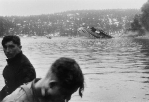 DA KRIGEN KOM TIL NORGE: Tirsdag 9. april 1940 ble det avfyrt torpedoer fra Oscarsborg festing, på ordre fra oberst Eriksen, som til slutt førte til at den tyske krysseren Blücher sank. FOTO: Ukjent / NTB scanpix (Bildet er gitt til NTB scanpix av Sverre Hartmann i 1986)