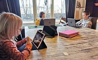 Hjemmeskole i åttebarnsfamilien:- Døgnrytme er det eneste vi er nøye på