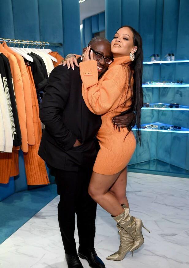 DUO: Enninful og Rihanna er gode venner og partnere i alskens kreative prosjekter. FOTO: Scanpix