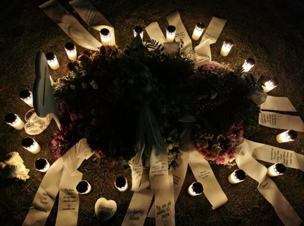 SAVNET OG ELSKET: Thelma Louises begravelse var 18. desember 2019. FOTO: Privat
