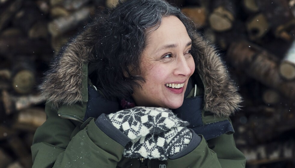 – Jeg elsker skogen og Eidsborg, våre nye, rause venner og naboer, sier Montserrat Ontiveros. FOTO: Astrid Waller
