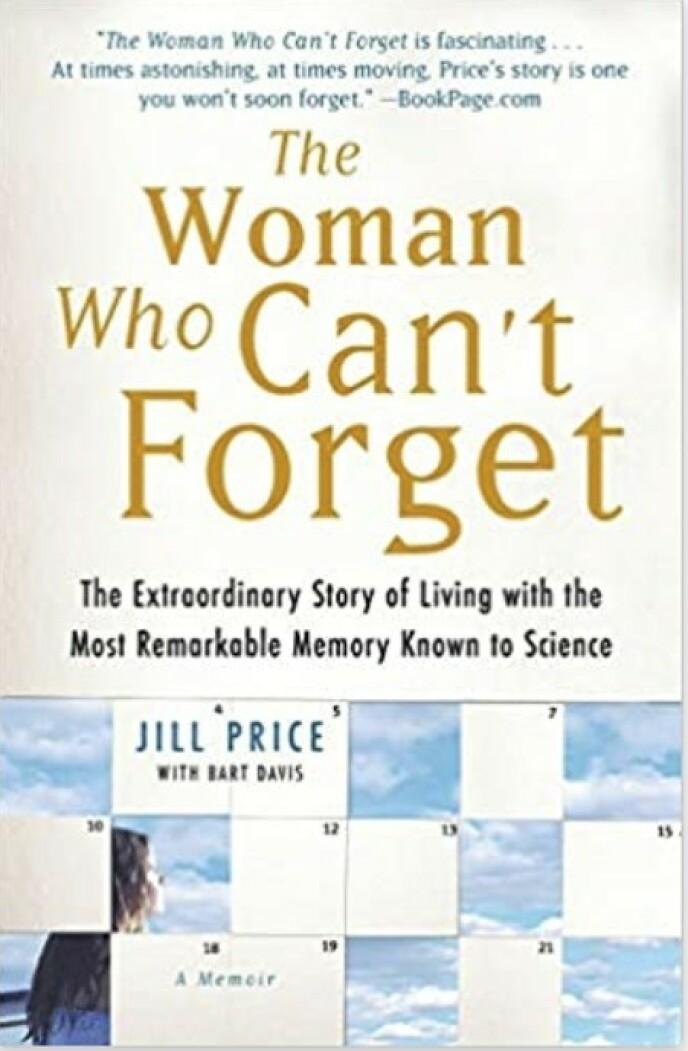 SELVBIOGRAFI: Jill Price har skrevet bok om hvordan det er å leve med HSAM: FOTO: Skjermdump Amazon.
