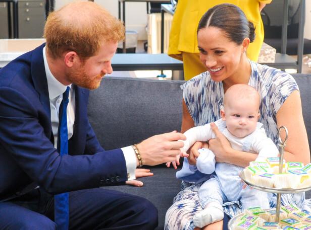 SØNNEN: Meghans familie på farssiden har aldri møtt sønnen Archie. Han kom til verden 6. mai 2019. FOTO: NTB scanpix
