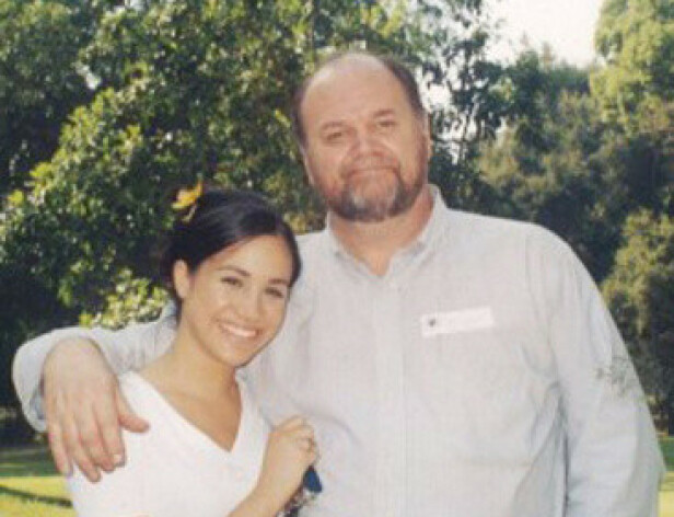 DEN GANG DA: Meghan Markle hadde et godt forhold til faren Thomas Markle - før hun traff prins Harry, og han solgte private bilder og historier om henne til tabloidpressen. FOTO: NTB scanpix