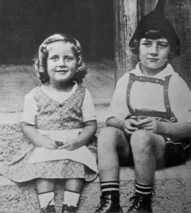 BARNDOM: Alice Stock Frank og storebroren Richard var bare småbarn da de bodde i samme leilighetskompleks som Hitler i München i 1920-årene. FOTO: NTB scanpix