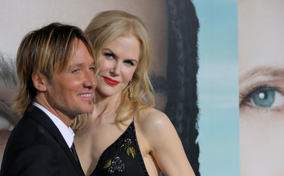 HBO-AKTUELL: Den australske skuespilleren kommer snart i enda en lovende HBO-serie, krimdramaet «The Undoing», som er regissert av danske Susanne Bier. Her er hun med sin ektemann Keith. FOTO: NTB Scanpix