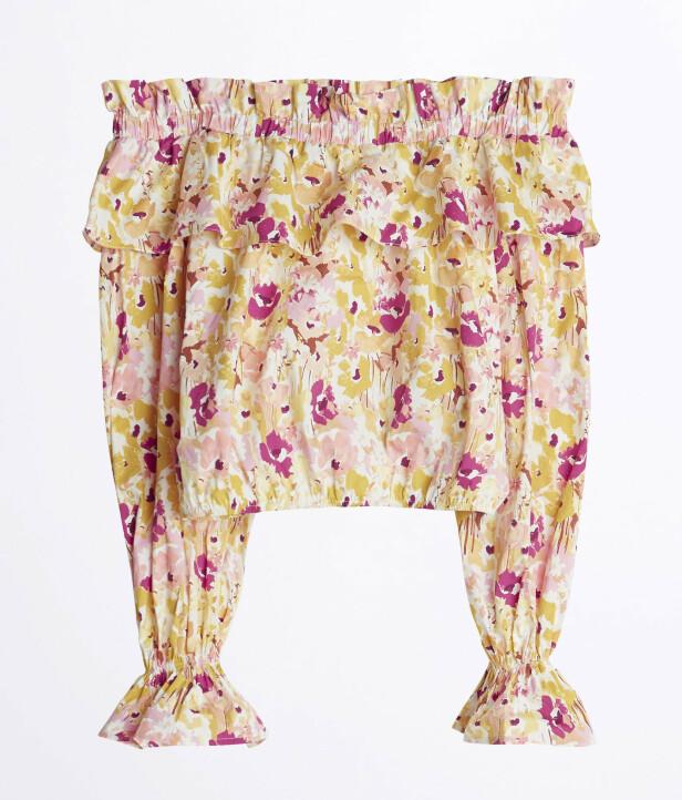 Bluse med bare skuldre (kr 400, Gina Tricot).