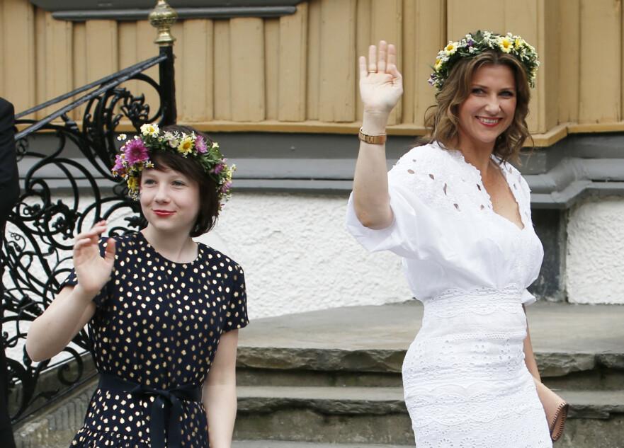 MAUD ANGELICA: I slutten av april 2020 fylte Maud Angelica Behn 17 år. Mamma Märtha gratulerte datteren med en rørende melding. Her fotografert i forbindelse med kongeparets markering av 25 år på tronen i 2016. FOTO: NTB scanpix