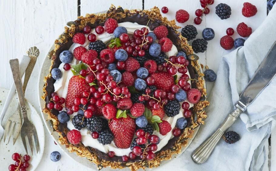 OPPSKRIFT: Få oppskrift på denne deilige kaken! FOTO: Winnie Methmann