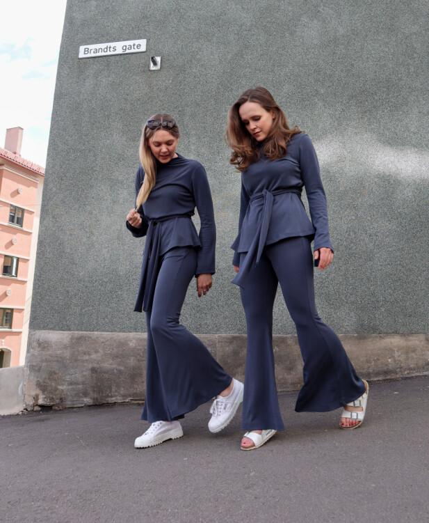 SY-VENNINNER: Ingrid Bergtun (t.v.) og Ingrid Vik Lysne (t.h.) er aktuelle med ny bok, en kolleksjon for Makeløs og nyoppstartede Fæbrik. Foto: Privat