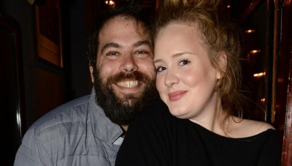 BRUDD: I fjor høst ble det kjent at Adele og ektemannen Simon Konecki har tatt ut skilsmisse, etter tre års ekteskap. FOTO: NTB scanpix