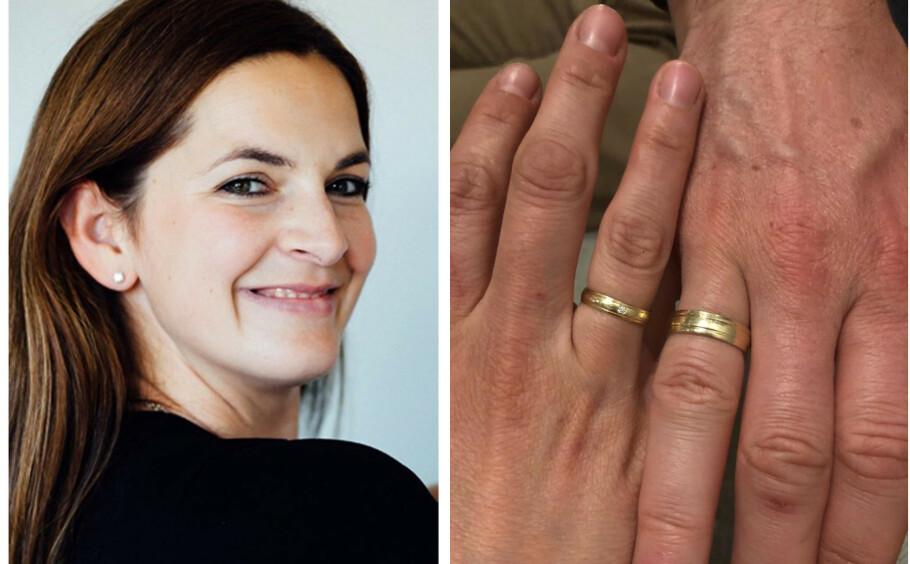 MISTET GIFTERING: Ektemannen til Ana mistet gifteringen mens familien var på lokal skogstur. Så satte hun i gang en leteaksjon på sosiale medier. FOTO: Privat