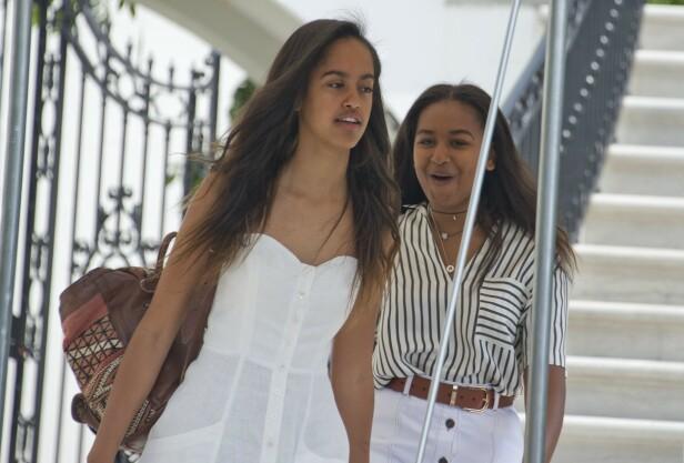 SØSTRE: Malia og Sasha er Michelle og Barack Obamas to barn. Nå er de blitt 21 og 18 år gamle. FOTO: NTB scanpix