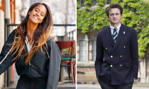 KJÆRESTER: Malia Obama har vært sammen med den britiske finanssønnen Rory Farquharson i litt over to år. De har foreløpig ikke bekreftet forholdet. FOTO: NTB scanpix