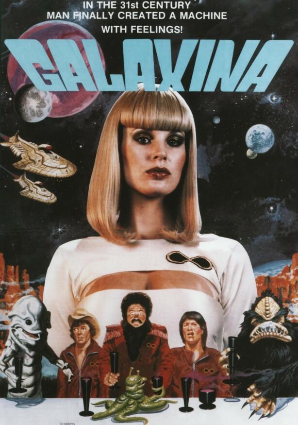 FØLSOM: Dorothy Strattens første filmroller begrenset seg til komedier og smalere genre. Som her, i rollen som roboten Galaxina, som viser seg å ha følelser. FOTO: NTB scanpix