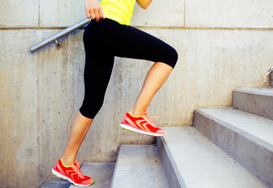 GOD TRENING: Har du lyst til å begynne med trappetrening, men usikker på hvor du skal starte? Her kommer noen konkrete tips og økter! FOTO: NTB Scanpix