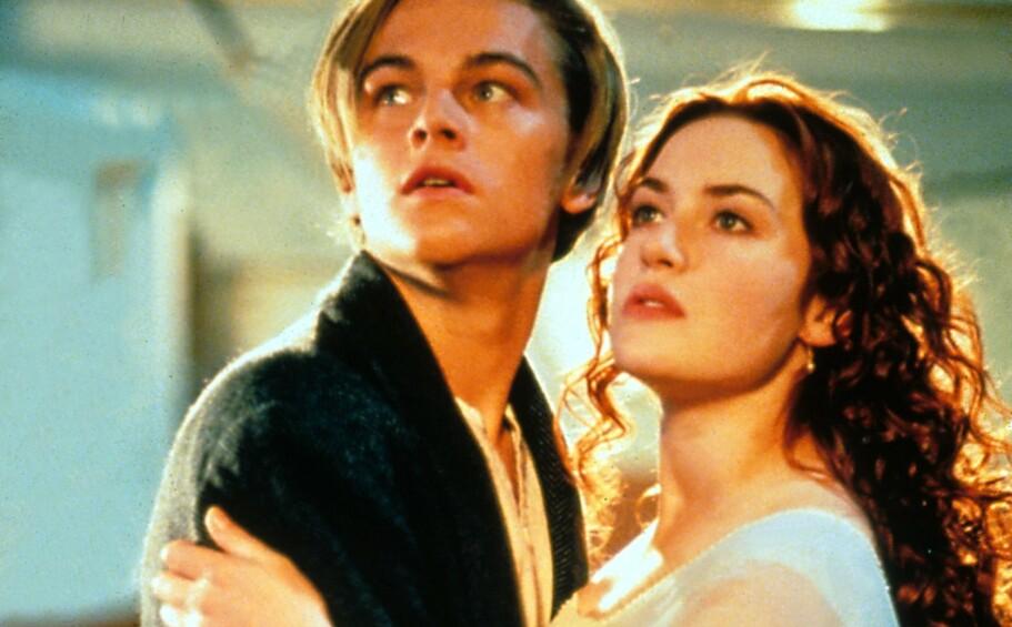 JACK OG ROSE: Vi snakker fremdeles om skuespillerprestasjonene til Leonardo DiCaprio og Kate Winslet i Titanic fra 1997. Foto: NTB Scanpix