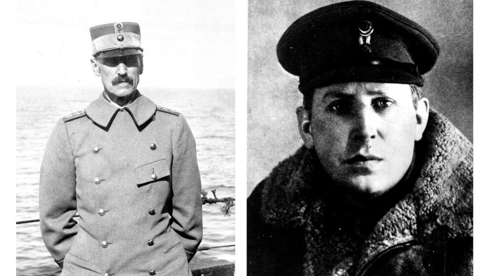 <strong>KJEMPET:</strong> Kong Haakon og Nordahl Greig - to menn som kjempet for landet sitt på hver sin måte. FOTO: NTB scanpix