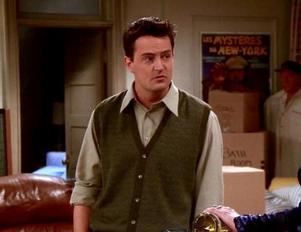 TRENDSETTE? Chandler Bing i tv-serien Friends. Foto: Skjermdump