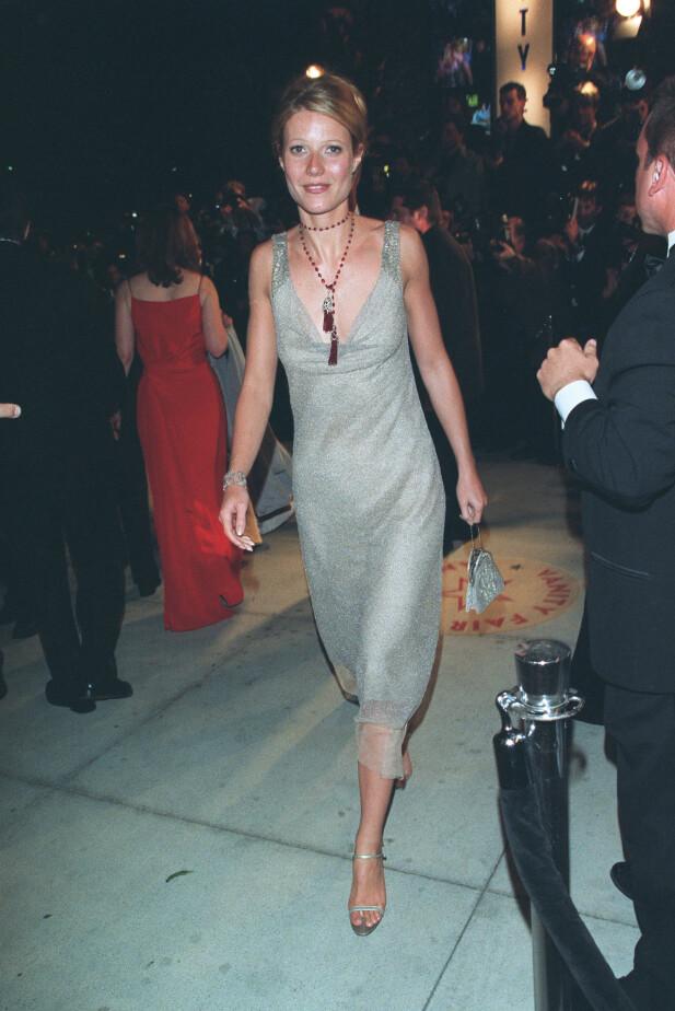 LAV PROFIL: Planen til Gwyneth Paltrow var å ikke være i fokus under Oscar-utdelingen i 2000. Slik gikk det ikke. Foto: NTB Scanpix