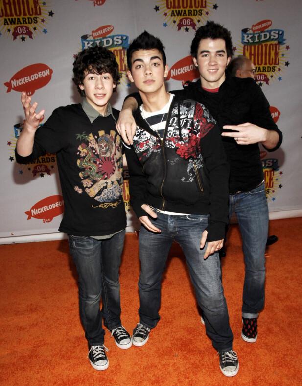 JONAS BROTHERS: Nick, Joe og Kevin. Foto: NTB Scanpix