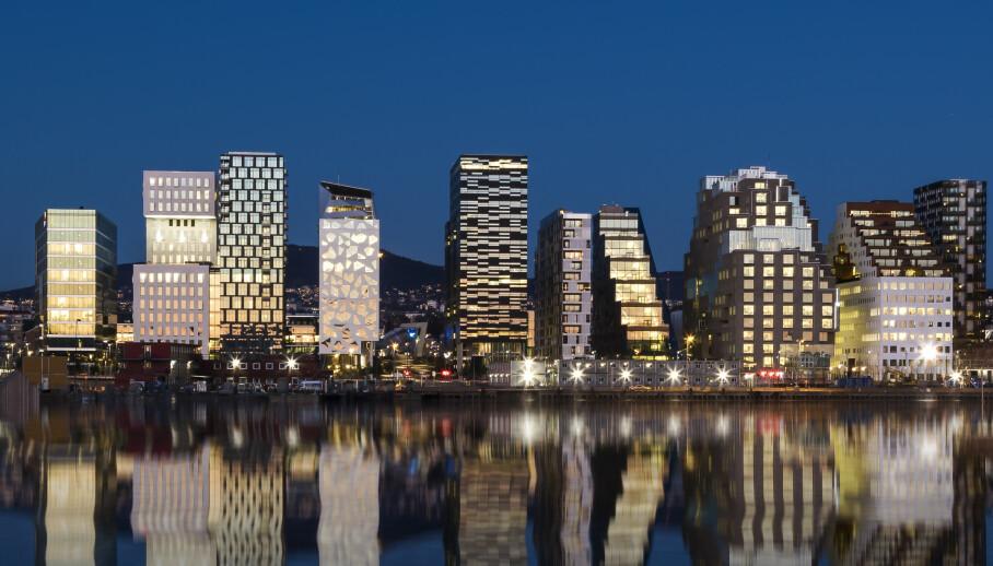 STORBY I NORGE: Vårt langstrakte land har så uendelig mye å by på, at det bare er fantasien som kan sette en stopper for alt vi kan oppleve. Her fra Barcode i hovedstaden Oslo. FOTO: NTB scanpix