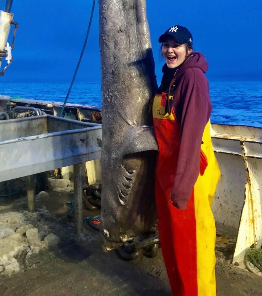 HAVETS DYR: Håkjerring var et av dyrene Erika fikk se. Hun lot seg fascinere av hver fisk mannskapet fikk ombord. FOTO: Privat