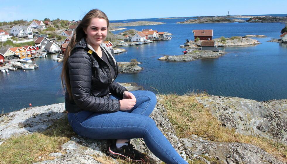 HJEMSTED: Erika Eeg er bokstavelig talt oppvokst med «tean i tanga» på Flekkerøy og har vært glad i sjøliv og båtliv siden hun var liten. FOTO: Silje Marie Rølland