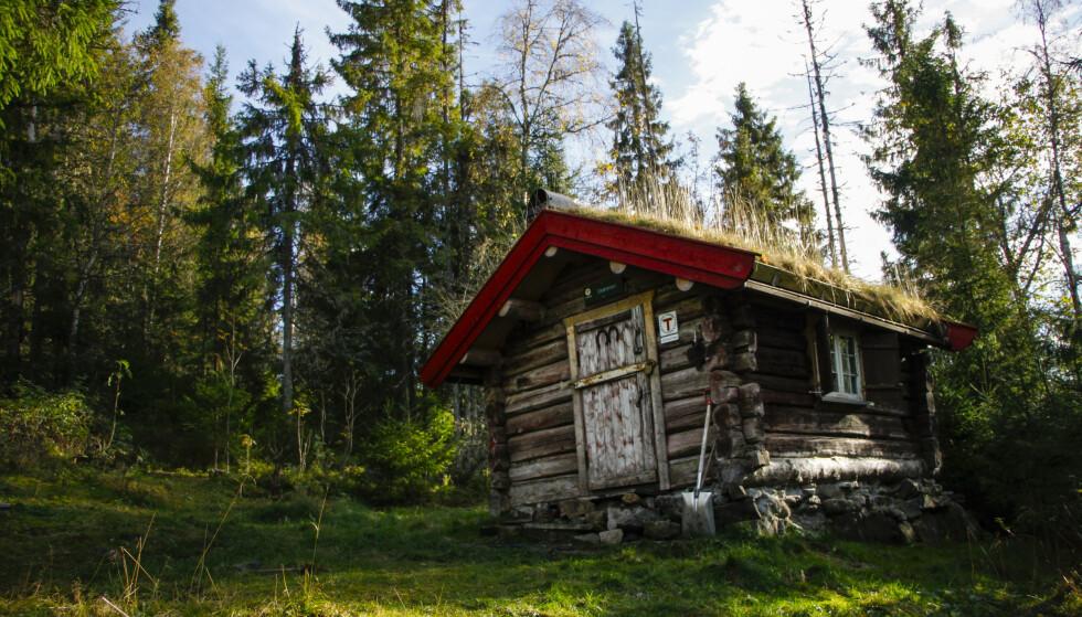 ROMANTISK: Hytta Drømmen på Krokskogen er både pittoresk og rustikk. Og ikke så lite romantisk. FOTO: DNT/Sindre Thoresen Lønnes