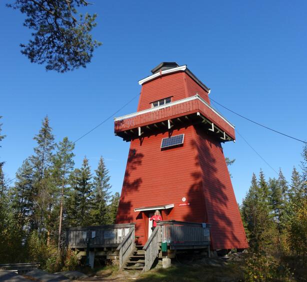 TOPPTUR: Haukenestårnet i Rømskog har sengeplass til fire og egner seg for venninneturen, ifølge DNT. FOTO: DNT