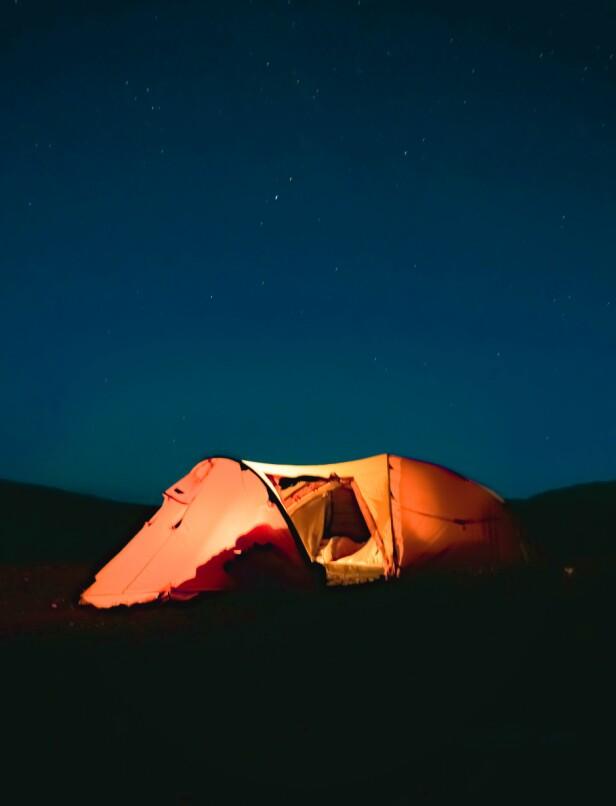 HUSKELISTE: For en god og komfortabel natt utendørs er det noen ting det kan være lurt å huske før man drar hjemmefra. FOTO: Privat