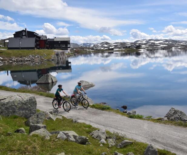 På Norges tak, mer eller mindre. Med pedalkraft over Rallarvegen. Foto: Mari Bareksten/Magasinet Reiselyst